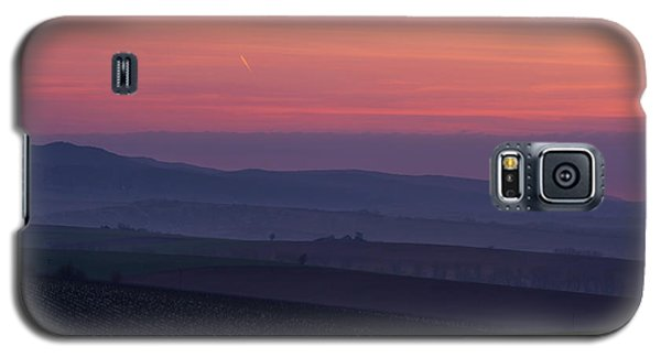 Galaxy S5 Case featuring the photograph Sunrise Over Hills Of Moravian Tuscany by Jenny Rainbow