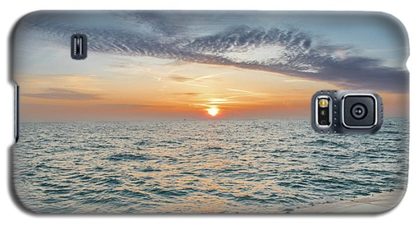Galaxy S5 Case featuring the photograph Sunrise Over Lake Michigan by Peter Ciro