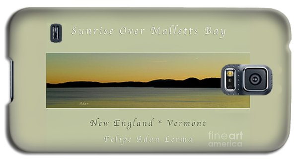 Sunrise Over Malletts Bay Greeting Card And Poster - Six V4 Galaxy S5 Case by Felipe Adan Lerma