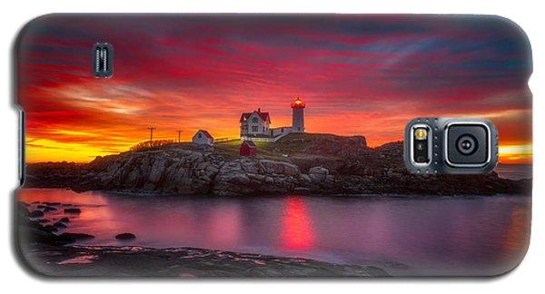Sunrise Over Nubble Light Galaxy S5 Case