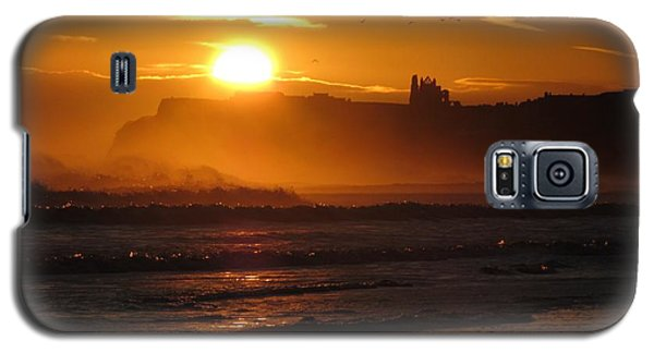 Galaxy S5 Case featuring the photograph Sunrise Over Sandsend Beach by RKAB Works