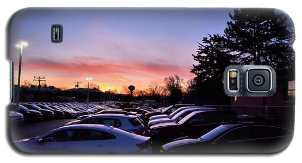 Sunrise Over The Car Lot Galaxy S5 Case by Jeanette O'Toole
