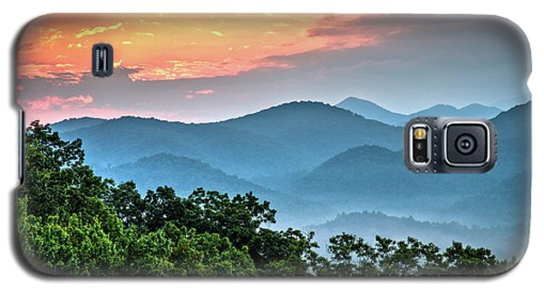Galaxy S5 Case featuring the photograph Sunrise Over The Smoky's by Douglas Stucky