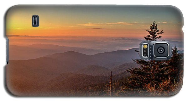 Galaxy S5 Case featuring the photograph Sunrise Over The Smoky's V by Douglas Stucky