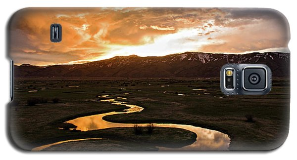 Sunrise Over Winding River Galaxy S5 Case