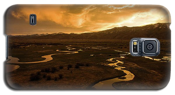 Sunrise Over Winding Rivers Galaxy S5 Case