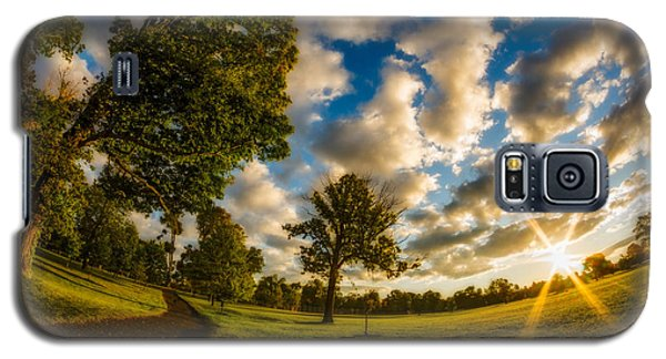Galaxy S5 Case featuring the photograph Sunrise Path At Meadows Edge by Chris Bordeleau