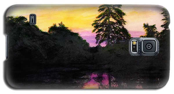 Sunrise Pond Maryland Landscape Original Fine Art Painting Galaxy S5 Case