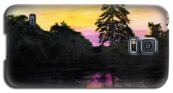 Sunrise Pond Maryland Landscape Original Fine Art Painting Galaxy S5 Case
