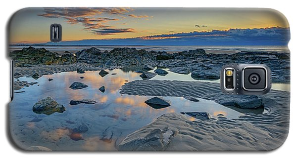 Galaxy S5 Case featuring the photograph Sunrise Reflections On Wells Beach by Rick Berk