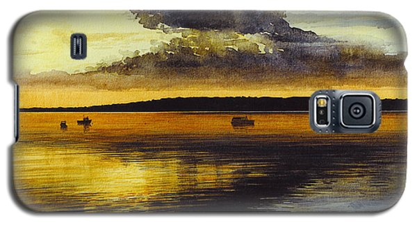 Sunrise Rockland Harbor Galaxy S5 Case