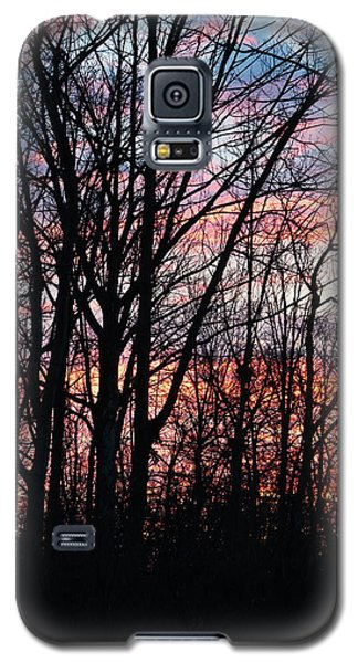 Sunrise Silhouette And Light Galaxy S5 Case
