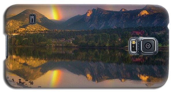 Sunrise Summer Rainbow In Colorado Galaxy S5 Case