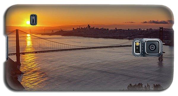 Sunrise Sunlight Hitting The Coastal Rock On The Shore Of The Go Galaxy S5 Case