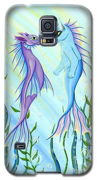 Sunrise Swim - Sea Dragon Mermaid Cat Galaxy S5 Case