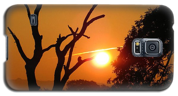 Galaxy S5 Case featuring the photograph Sunrise Trees by RKAB Works