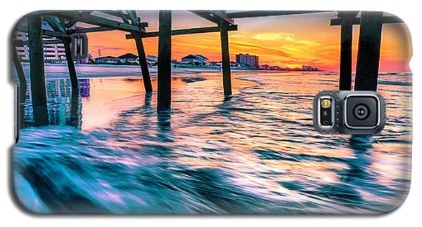 Sunrise Under Cherry Grove Pier Galaxy S5 Case