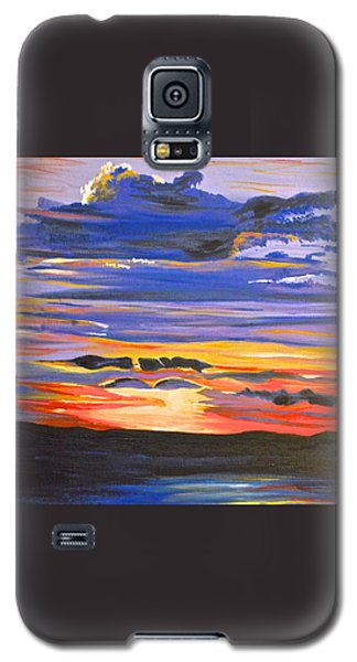 Galaxy S5 Case featuring the painting Sunset #5 by Donna Blossom