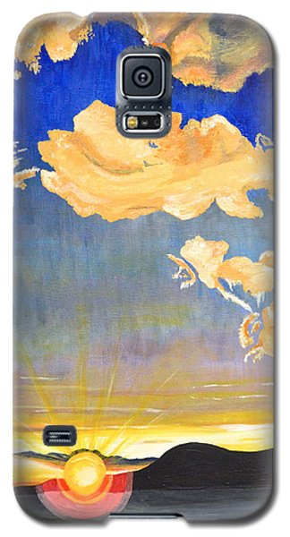 Galaxy S5 Case featuring the painting Sunset #6 by Donna Blossom