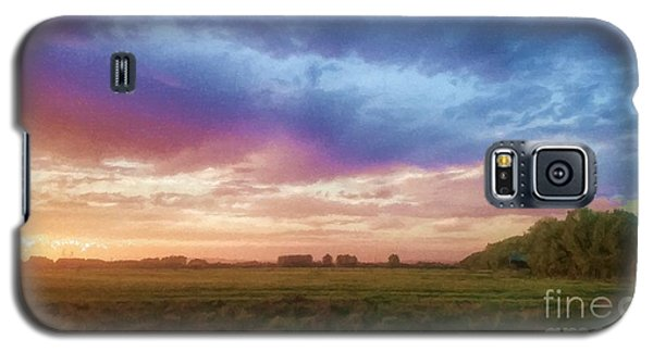 Sunset Across Cheshire Galaxy S5 Case