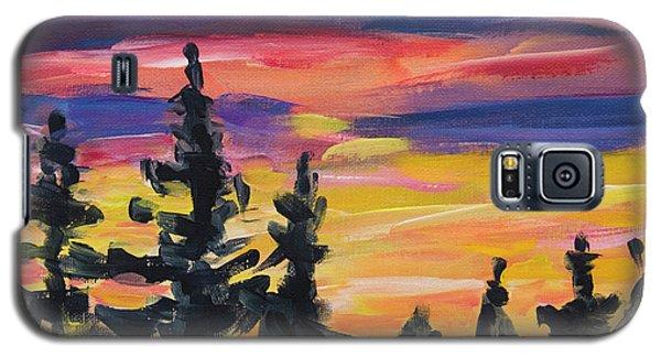 Galaxy S5 Case featuring the painting Sunset Alaska by Yulia Kazansky