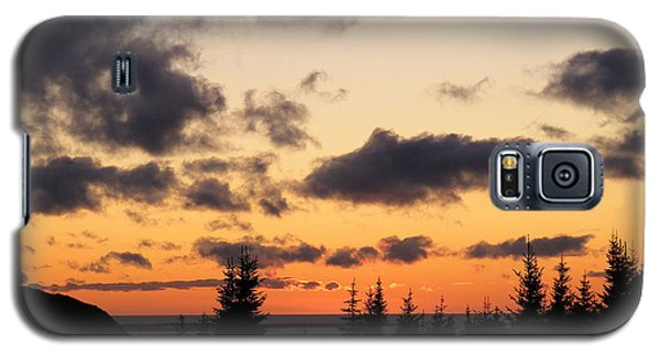 Galaxy S5 Case featuring the photograph Sunset And Dark Clouds by Barbara Griffin
