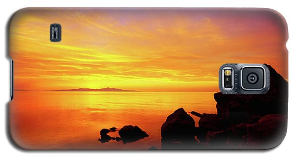 Sunset And Fire Galaxy S5 Case