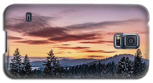 Sunset And Mountains Galaxy S5 Case