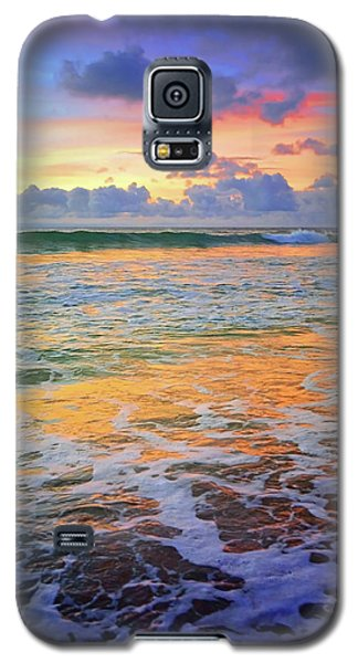 Galaxy S5 Case featuring the photograph Sunset And Sea Foam by Tara Turner