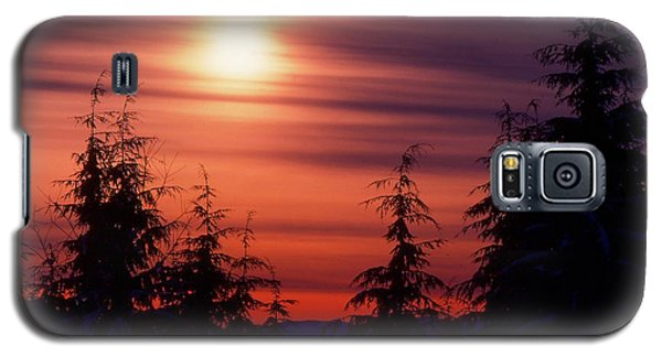 Sunset And Trees Two  Galaxy S5 Case by Lyle Crump