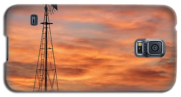 Sunset And Windmill 04 Galaxy S5 Case