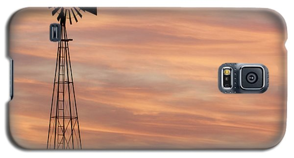 Sunset And Windmill 05 Galaxy S5 Case