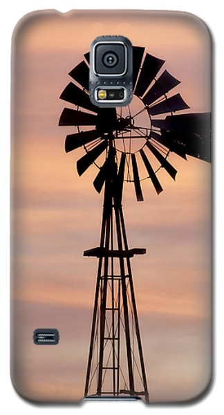 Sunset And Windmill 06 Galaxy S5 Case