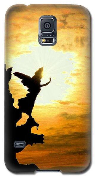 Sunset Angel Galaxy S5 Case by Valentino Visentini