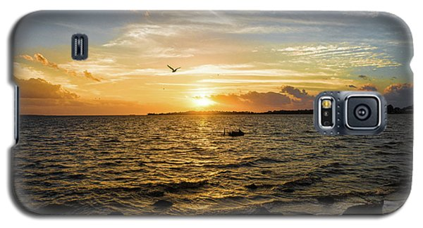 Galaxy S5 Case featuring the photograph Sunset At Cedar Key by Rebecca Hiatt