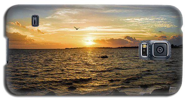 Sunset At Cedar Key Galaxy S5 Case by Rebecca Hiatt