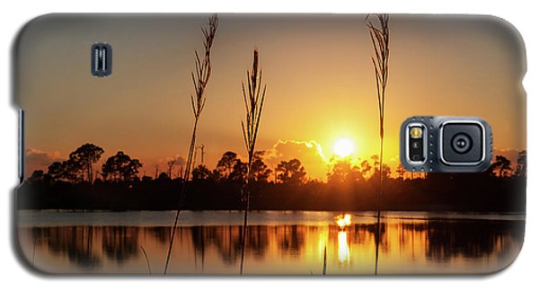 Galaxy S5 Case featuring the photograph Sunset At Gator Hole 3 by Arthur Dodd