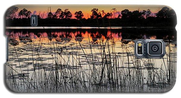 Sunset At Gator Hole Galaxy S5 Case by Arthur Dodd