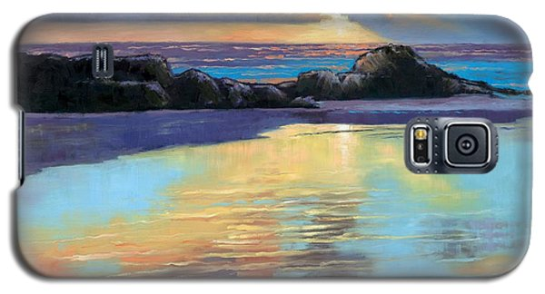 Sunset At Havika Beach Galaxy S5 Case by Janet King