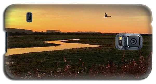 Sky Galaxy S5 Case - Sunset At Holkham Today  #landscape by John Edwards