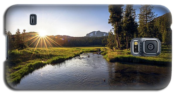 Sunset At Kings Creek In Lassen Volcanic National Galaxy S5 Case