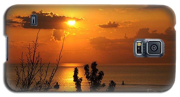 Sunset At Lake Huron Galaxy S5 Case by Joe  Ng