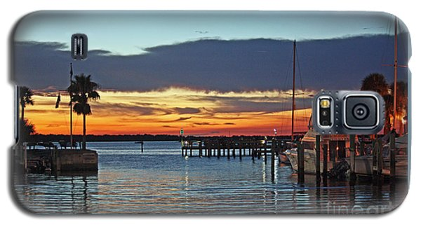 Sunset At Marina Plaza Dunedin Florida Galaxy S5 Case
