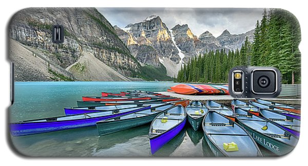 Sunset At Moraine Lake Galaxy S5 Case