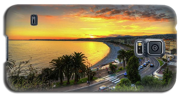 Galaxy S5 Case featuring the photograph Sunset At Nice by Yhun Suarez
