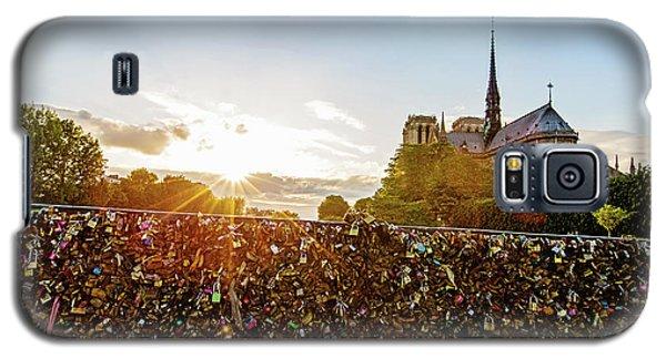 Sunset At Notre Dame De Paris Galaxy S5 Case