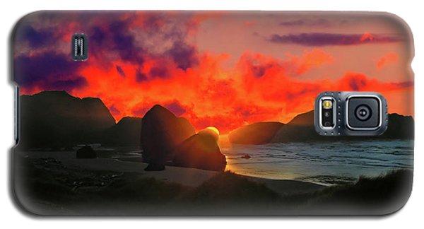 Sunset At Oregon Beach Galaxy S5 Case