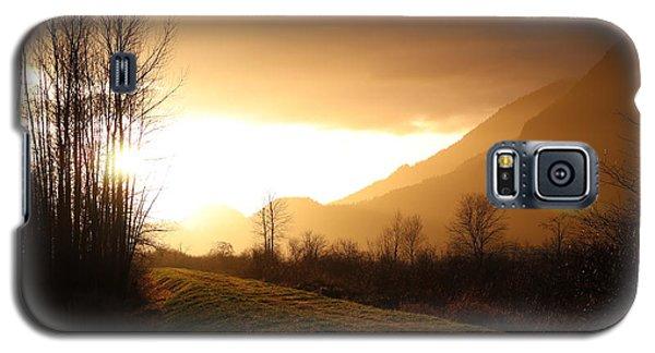 Sunset At Pitt Lake Dyke Galaxy S5 Case