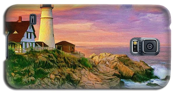 Sunset At Portland Head Galaxy S5 Case