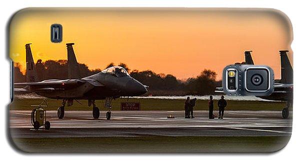 Sunset At Raf Lakenheath Galaxy S5 Case by Tim Beach